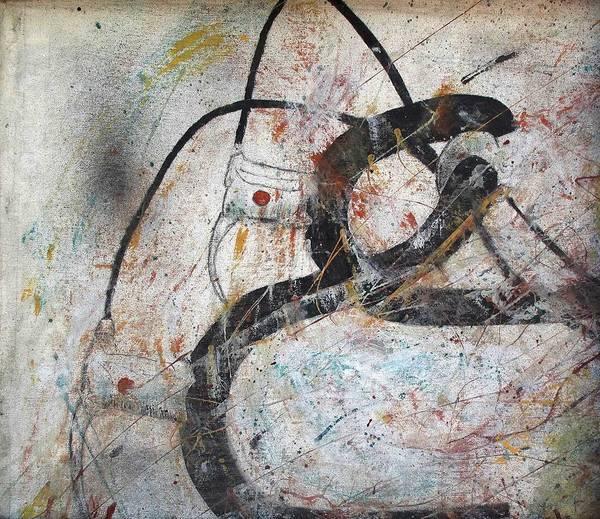 Abstract Bike Art Print by Thomas Armstrong