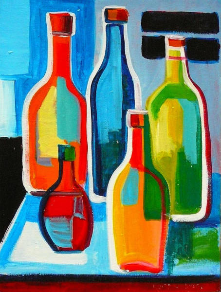 Painting - Abstract Bottles by Richard Fritz