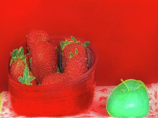 Digital Art - Abstract Fruit Art 65 by Miss Pet Sitter