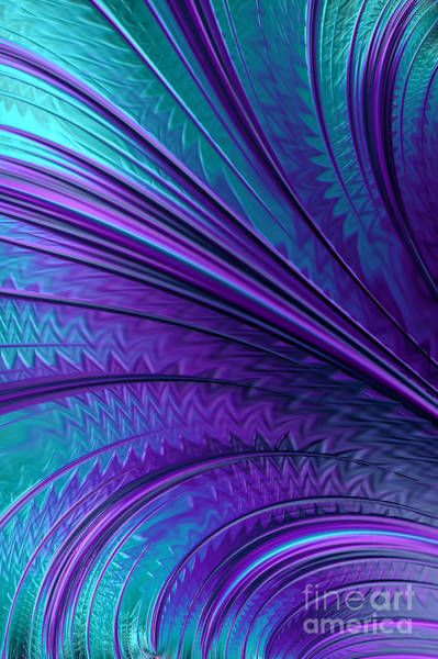 Wall Art - Digital Art - Abstract In Blue And Purple by John Edwards