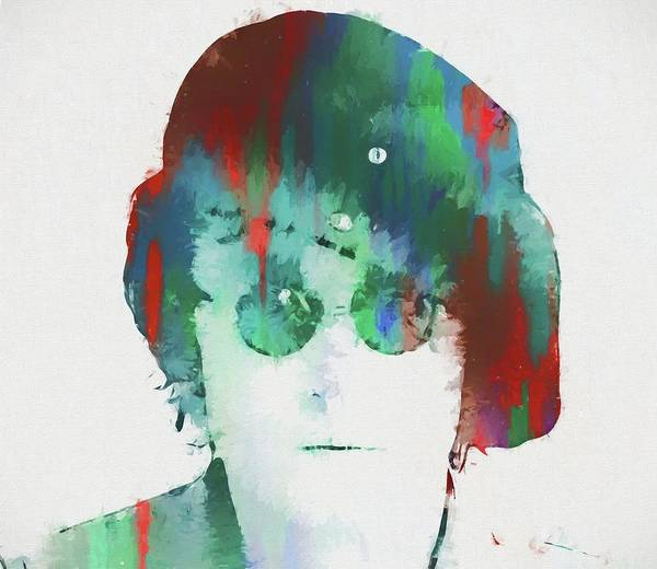Wall Art - Painting - Abstract Lennon by Dan Sproul