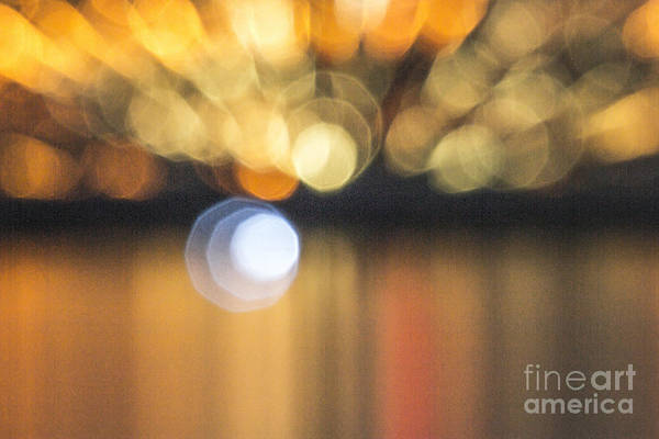 Photograph - Abstract Light Texture With Mirroring Effect by Odon Czintos