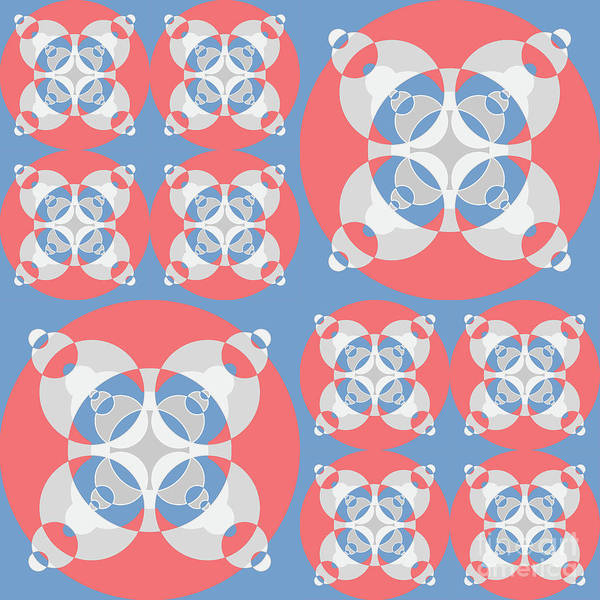 Collector Digital Art - Abstract Mandala White, Pink And Blue Pattern For Home Decoration by Drawspots Illustrations