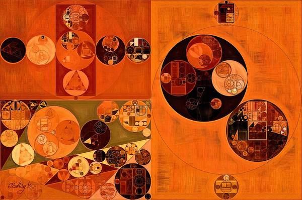 Feelings Digital Art - Abstract Painting - Bulgarian Rose by Vitaliy Gladkiy