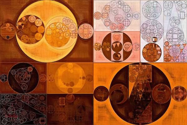 Wall Art - Digital Art - Abstract Painting - Cinnamon by Vitaliy Gladkiy