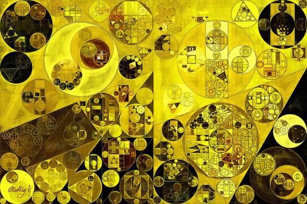 Wall Art - Digital Art - Abstract Painting - Citrine by Vitaliy Gladkiy