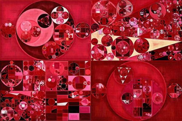 Multi Digital Art - Abstract Painting - Dark Scarlet by Vitaliy Gladkiy