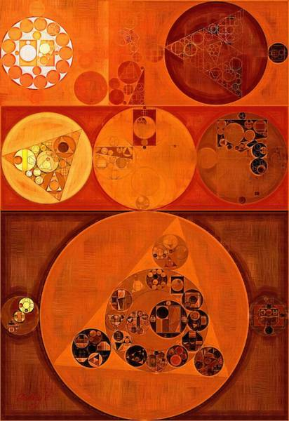Burn Digital Art - Abstract Painting - Falu Red by Vitaliy Gladkiy