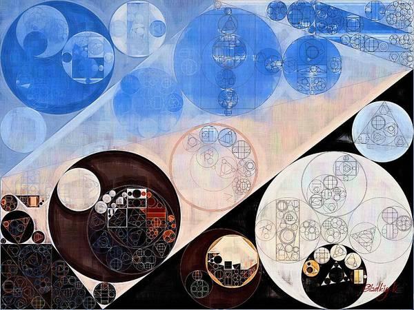 Abstraction Digital Art - Abstract Painting - Havelock Blue by Vitaliy Gladkiy