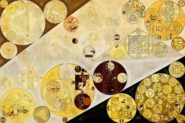 Gold Digital Art - Abstract Painting - Metallic Gold by Vitaliy Gladkiy