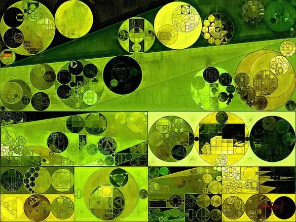 Dark Olive Green Wall Art - Digital Art - Abstract Painting - Olive Drab by Vitaliy Gladkiy