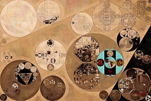 Gradient Digital Art - Abstract Painting - Pale Brown by Vitaliy Gladkiy