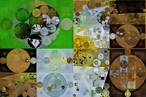 Wall Art - Digital Art - Abstract Painting - Pesto by Vitaliy Gladkiy
