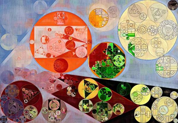 Effects Digital Art - Abstract Painting - Rustic Red by Vitaliy Gladkiy