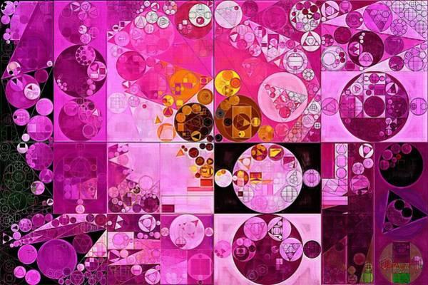 Gradient Digital Art - Abstract Painting - Tea Rose by Vitaliy Gladkiy