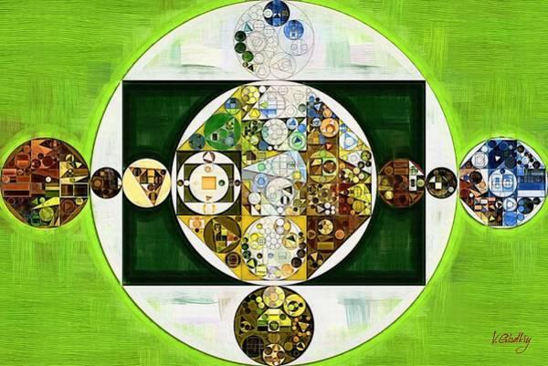 Gradient Digital Art - Abstract Painting - Willow Brook by Vitaliy Gladkiy