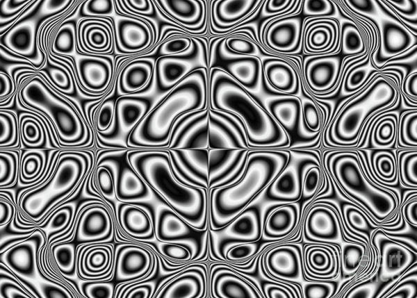 Vibrations Digital Art - Abstract Pattern - Kaleidoscopic Pattern by Michal Boubin