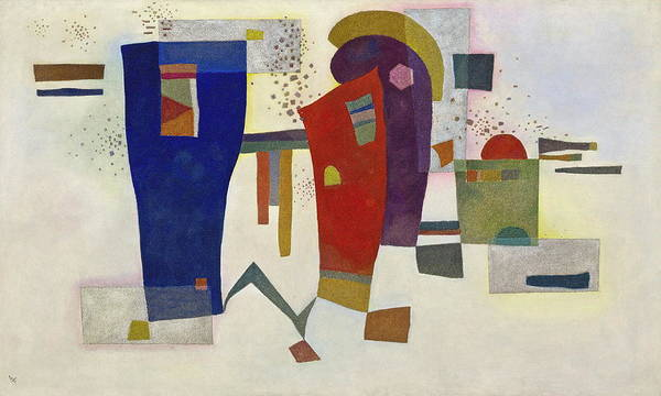 Wall Art - Painting - Accompanied Contrast by Wassily Kandinsky