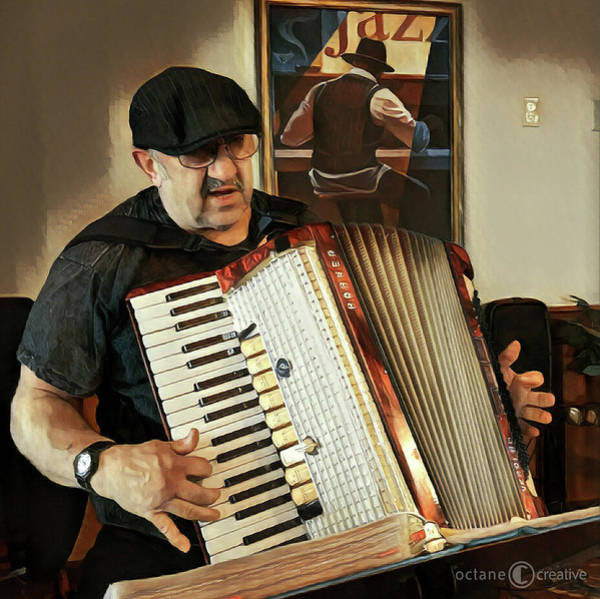 Photograph - Accordion Player by Tim Nyberg