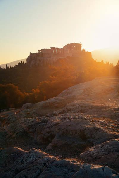 Photograph - Acropolis Sunrise by Songquan Deng
