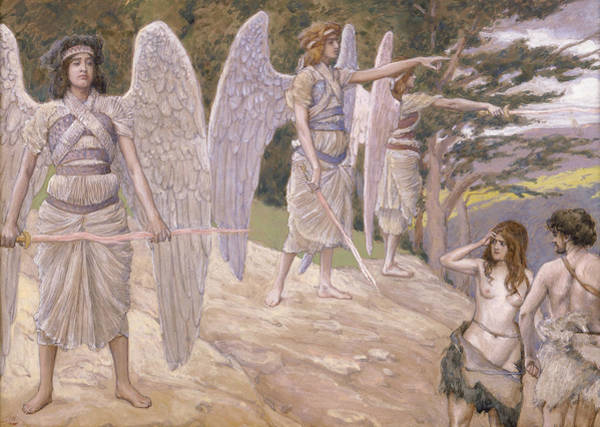 Painting - Adam And Eve Driven From Paradise by James Tissot