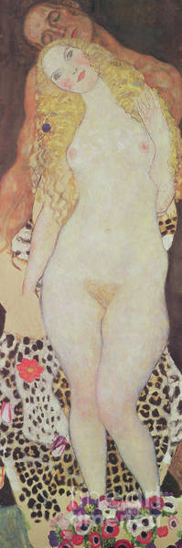 Wall Art - Painting - Adam And Eve by Gustav Klimt