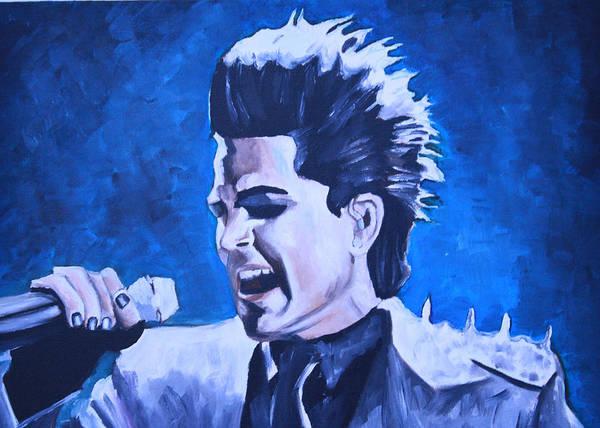 Wall Art - Painting - Adam Lambert by Mikayla Ziegler