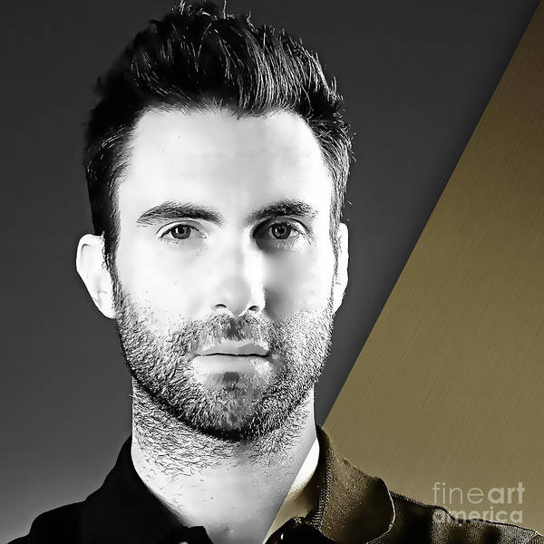 Wall Art - Mixed Media - Adam Levine Collection by Marvin Blaine