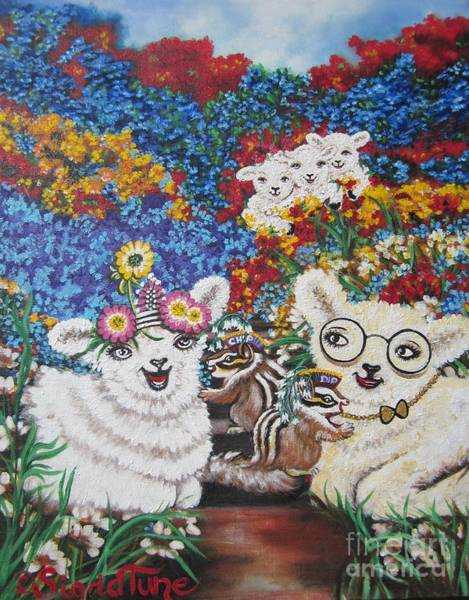 Painting - Flying Lamb Productions          Adele And Ben Get Married by Sigrid Tune