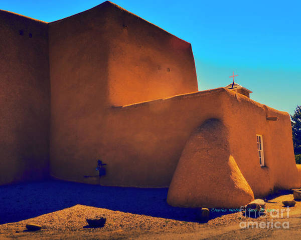 Photograph - Adobe Church by Charles Muhle