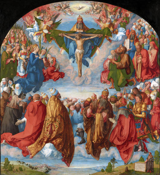 Painting - Adoration Of The Trinity  by Albrecht Durer