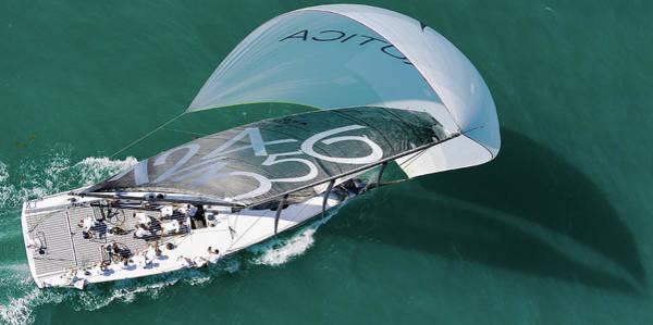Photograph - Aerial Key West Race Week by Steven Lapkin