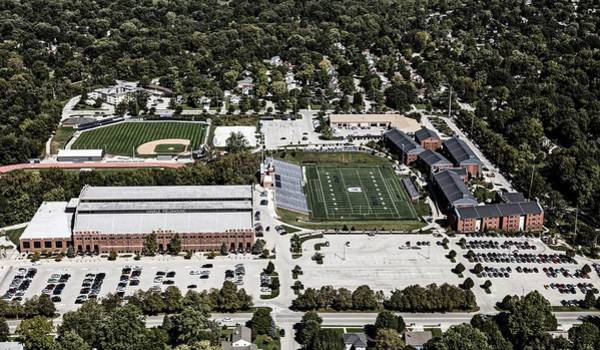 College Baseball Photograph - Aerial View Of Butler University by Mountain Dreams