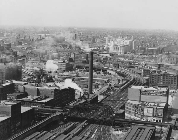 Chicago And North Western Photograph - Aerial View Of Main Line Track - 1953 by Chicago and North Western Historical Society