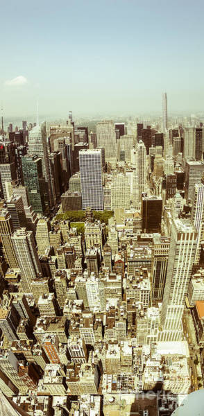 The Empire State Building Digital Art - Aerial View Of Manhattan by Perry Van Munster