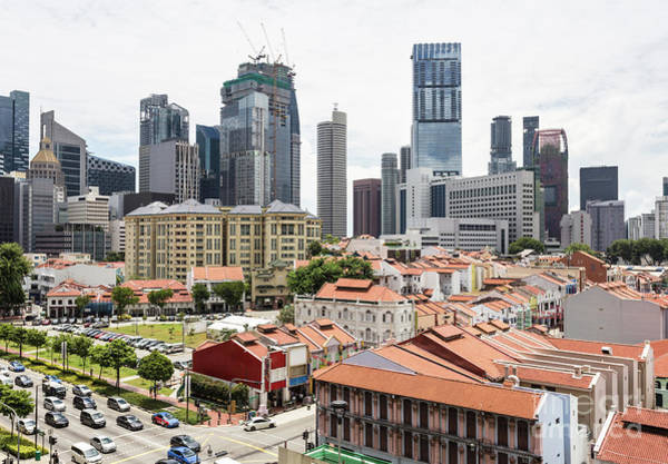 Photograph - Aerial View Of Singapore Chinatown by Didier Marti
