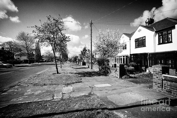 Wall Art - Photograph - Affluent Housing On Booker Avenue In The Allerton Areas Of Liverpool Merseyside England Uk by Joe Fox