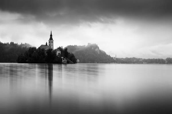 Wall Art - Photograph - After The Rain At Lake Bled by Ian Middleton