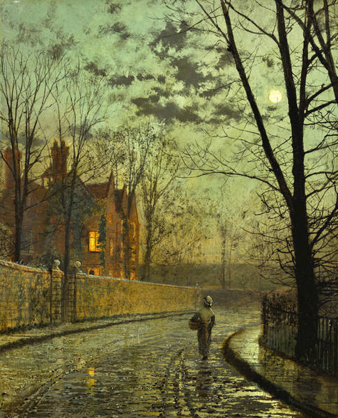 Wall Art - Painting - After The Shower by John Atkinson Grimshaw