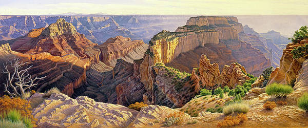 Rim Wall Art - Painting - Afternoon-north Rim by Paul Krapf