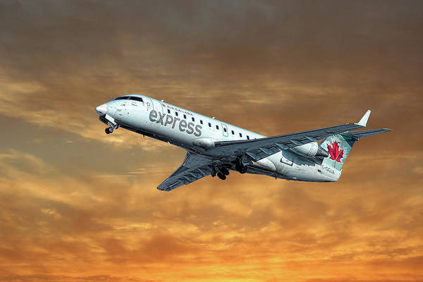 Airliner Mixed Media - Air Canada Express Bombardier Crj-200er by Smart Aviation