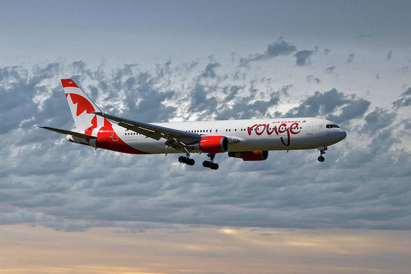 Boeing 767 Wall Art - Photograph - Air Canada Rouge Boeing 767-35h by Smart Aviation