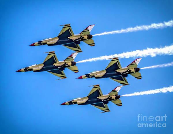Photograph - Air Force Thunderbirds by Nick Zelinsky