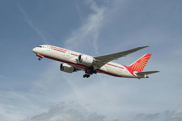 Boeing Mixed Media - Air India Boeing 787-8 Dreamliner by Smart Aviation