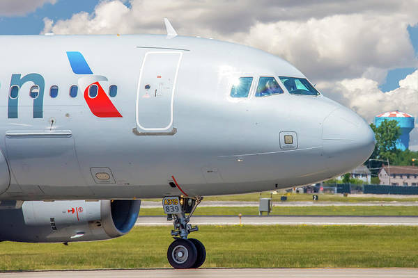 Photograph - Airbus A319 by Guy Whiteley