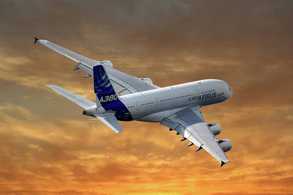 Airbus A380 Wall Art - Photograph - Airbus International Airbus A380 by Smart Aviation