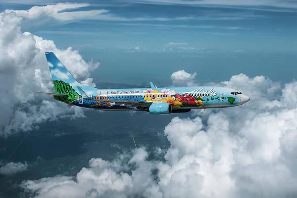 Engine Mixed Media - Alaska Airlines Boeing 737-800  by Erik Simonsen
