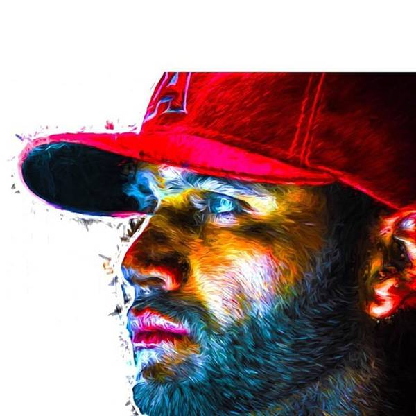 Drawing Wall Art - Photograph - #albertpujols #angels #anaheimangels by David Haskett II