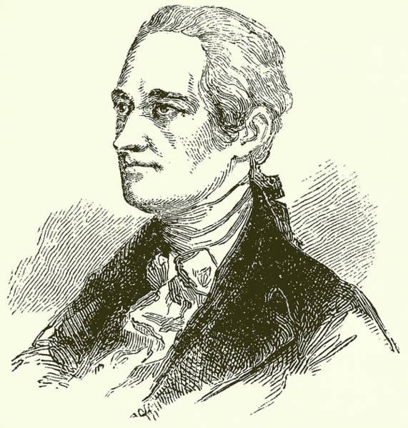 Tie Drawing - Alexander Hamilton by English School