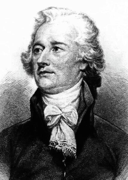 Tie Drawing - Alexander Hamilton by John Trumbull